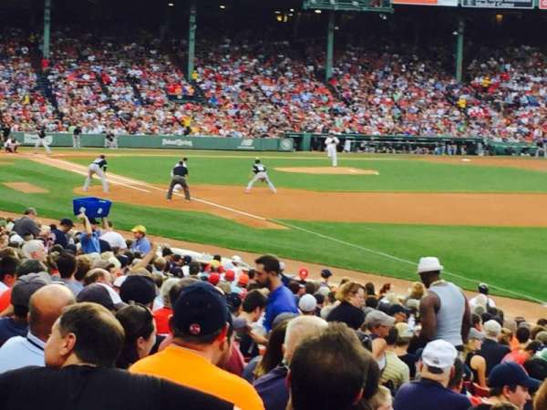Fenway Park, section: Right Field Box 94, row: PP, seat: 26