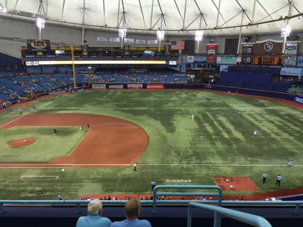 Tropicana Field, section: 312, row: D, seat: 12