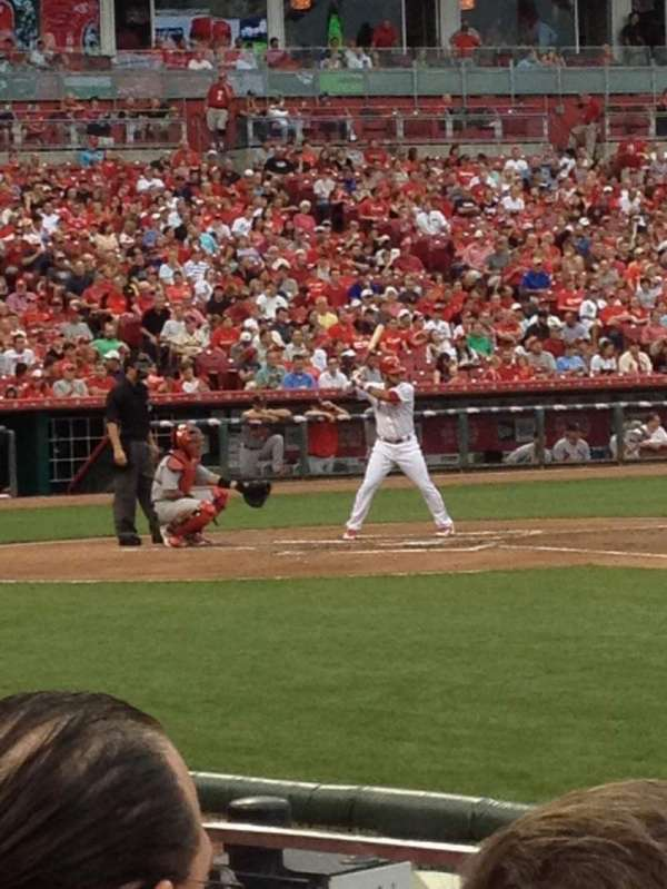 Great American Ball Park, section: 131, row: H, seat: 8