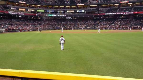 Chase Field, section: 102, row: 14, seat: 4