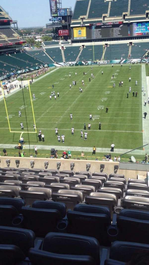 Lincoln Financial Field, section: M12, row: 14, seat: 1