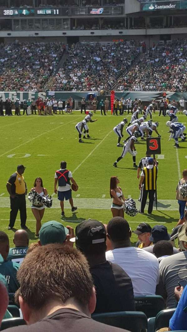 Lincoln Financial Field, section: 105, row: 5, seat: 6