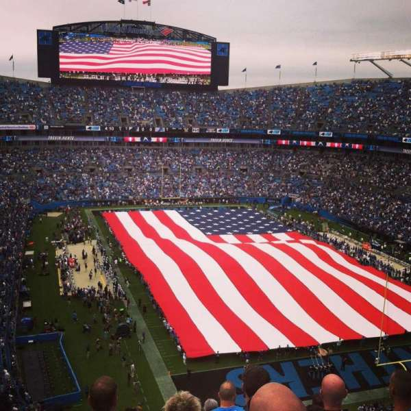 Bank of America Stadium, section: 531, row: 9, seat: 18