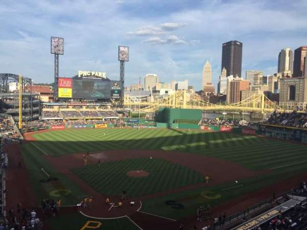 PNC Park, section: 214, row: A, seat: 3