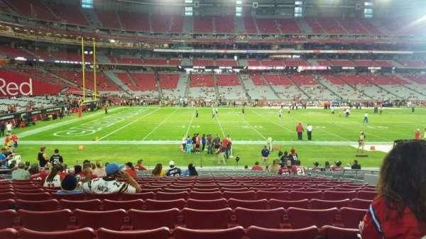 State Farm Stadium, section: 133, row: 20, seat: 8