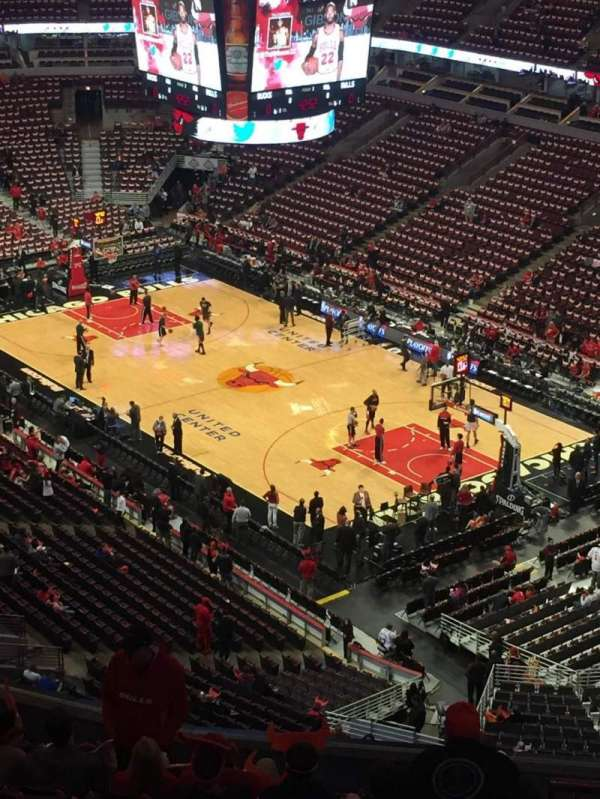 United Center, section: 313, row: 15, seat: 4