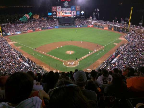 Oracle Park, section: VR315, row: 11, seat: 16