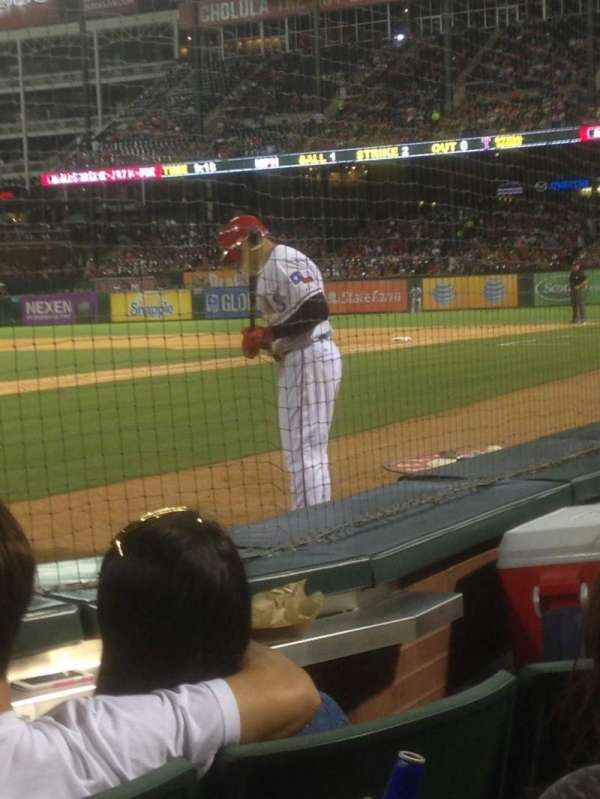 Globe Life Park in Arlington, section: 28, row: C, seat: 1