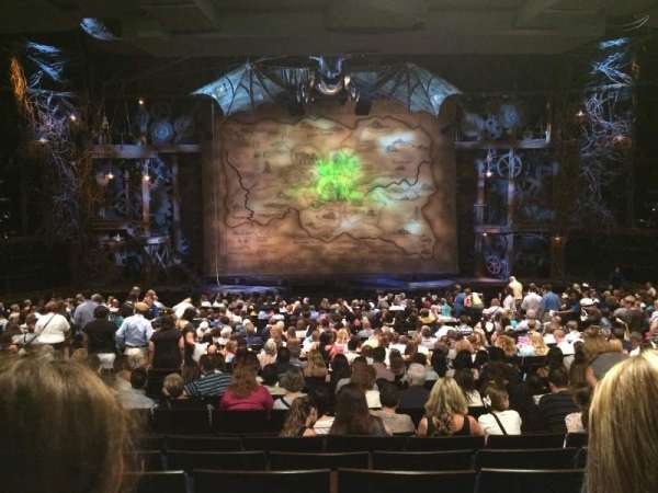 Gershwin Theatre, section: Orchestra C, row: X, seat: 108