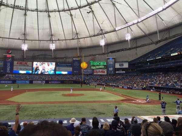 Tropicana Field, section: 113, row: V, seat: 7