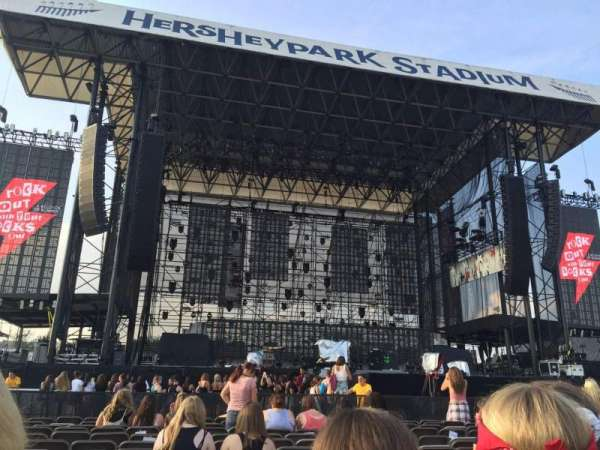 Hershey Park Stadium, section: B, row: 21, seat: 39