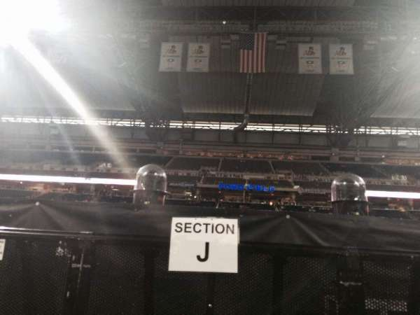 Ford Field, section: Floor J, row: 1, seat: 15
