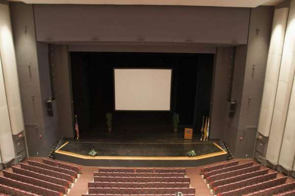 Mainstage Theatre, section: Balcony Center, row: A, seat: 107