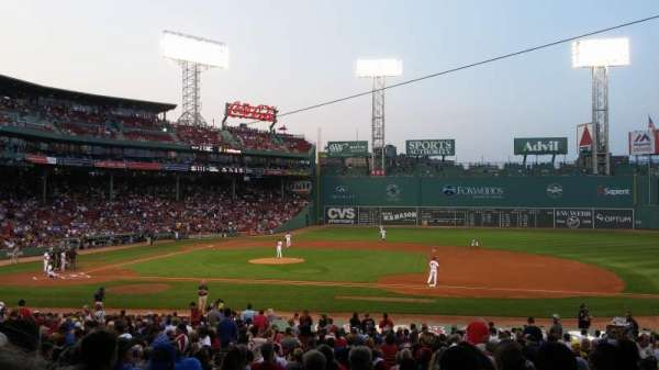 Fenway Park, section: Grandstand 15, row: 2, seat: 11