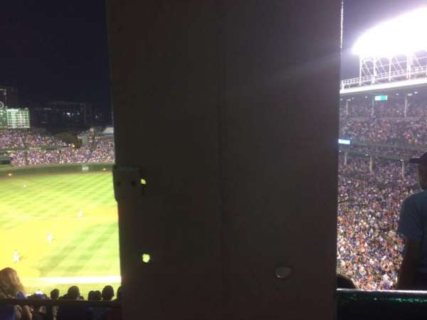 Wrigley Field, section: 414L, row: 1, seat: 1
