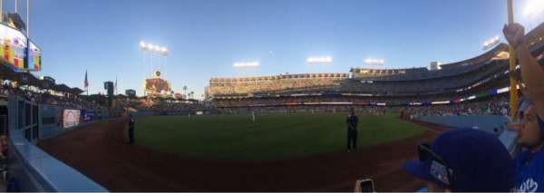 Dodger Stadium, section: 51fd, row: AA, seat: 8