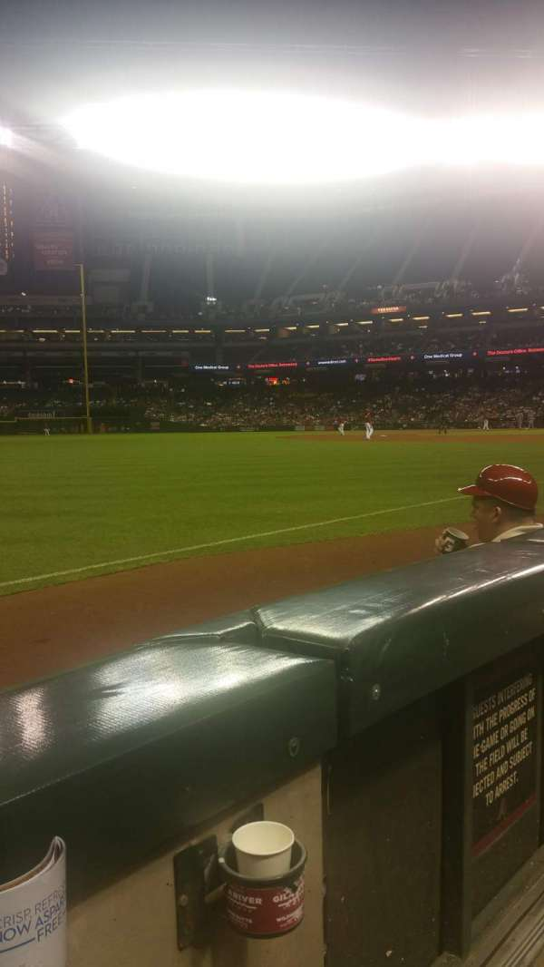 Chase Field, section: 134, row: 3, seat: 1
