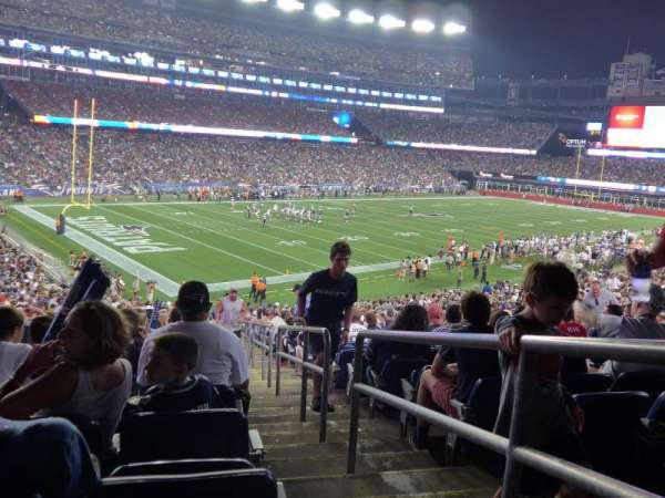 Gillette Stadium, section: 138, row: 36, seat: 1