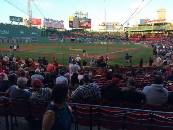 Fenway Park, section: Loge Box 133, row: BB, seat: 6