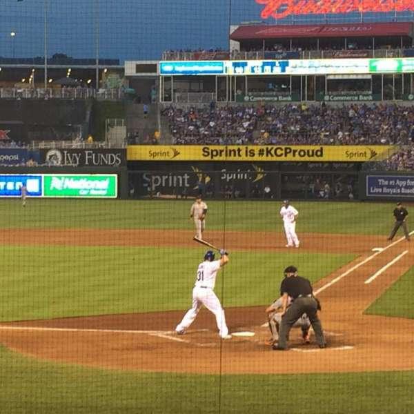 Kauffman Stadium, section: 125, row: L, seat: 7