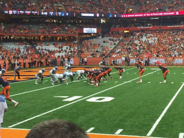Carrier Dome, section: 118, row: B, seat: 108