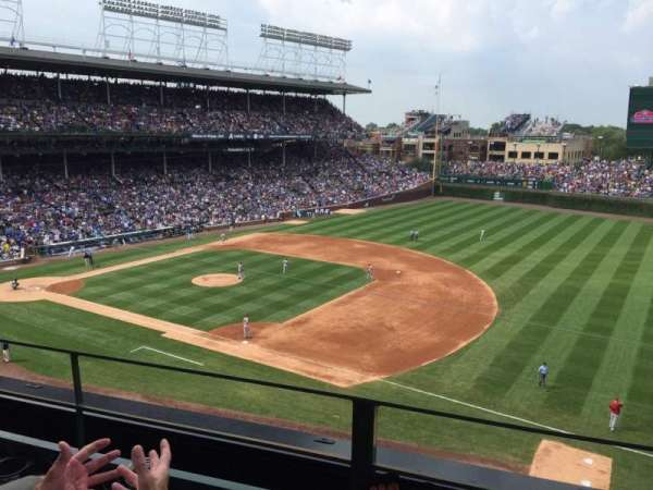 Wrigley Field, section: 327R, row: 2, seat: 22