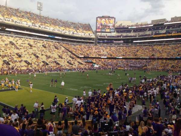 Tiger Stadium, section: 220, row: 1, seat: 20
