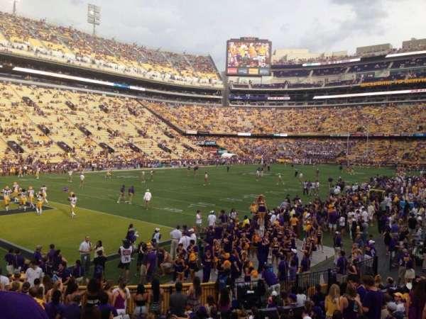 Tiger Stadium, section: 220, row: 1, seat: 20