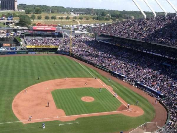 Kauffman Stadium, section: 412, row: NN, seat: 5