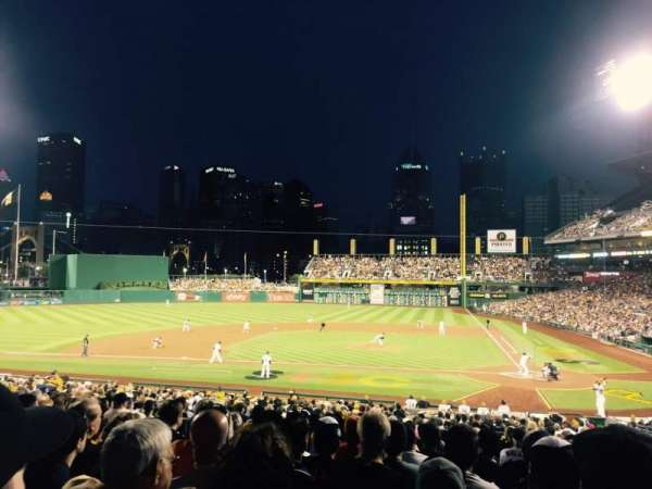 PNC Park, section: 120, row: Q, seat: 7
