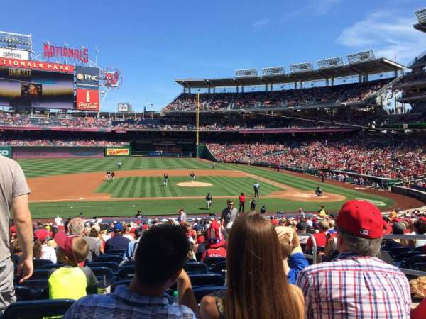 Nationals Park, section: 116, row: KK, seat: 4