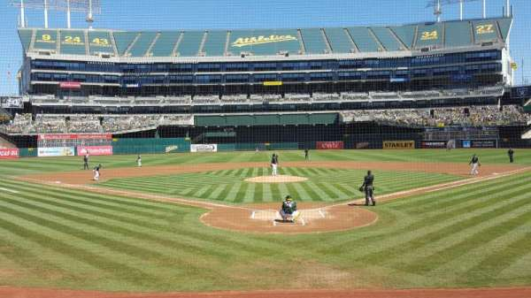 Oakland Coliseum, section: 117, row: 13, seat: 9