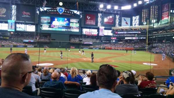 Chase Field, section: K, row: I, seat: 5
