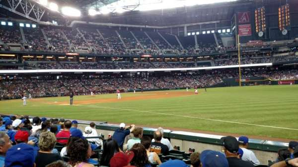Chase Field, section: 111, row: 7, seat: 12