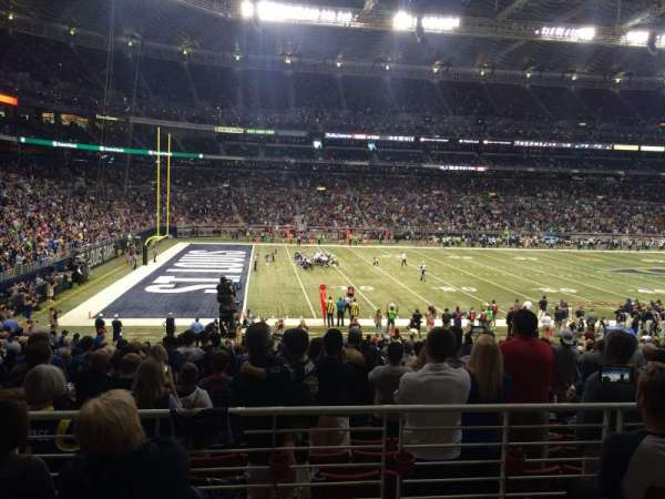 The Dome at America's Center, section: 117, row: AA, seat: 14