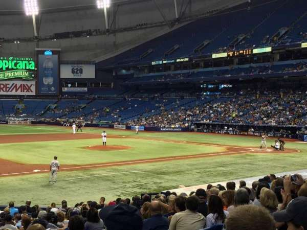 Tropicana Field, section: 121, row: Y, seat: 5