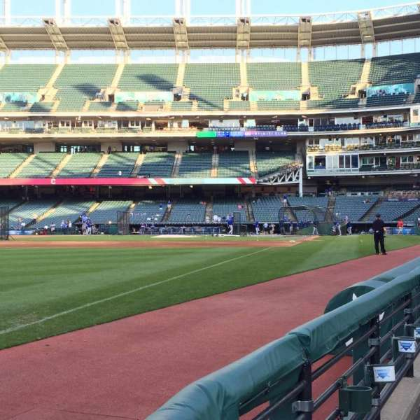 Progressive Field, section: 174, row: A, seat: 1