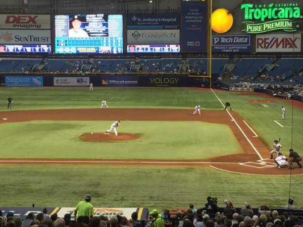 Tropicana Field, section: 109, row: JJ, seat: 1
