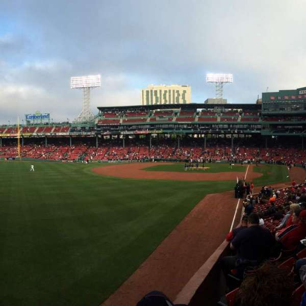 Fenway Park, section: Grandstand 33, row: 1, seat: 8