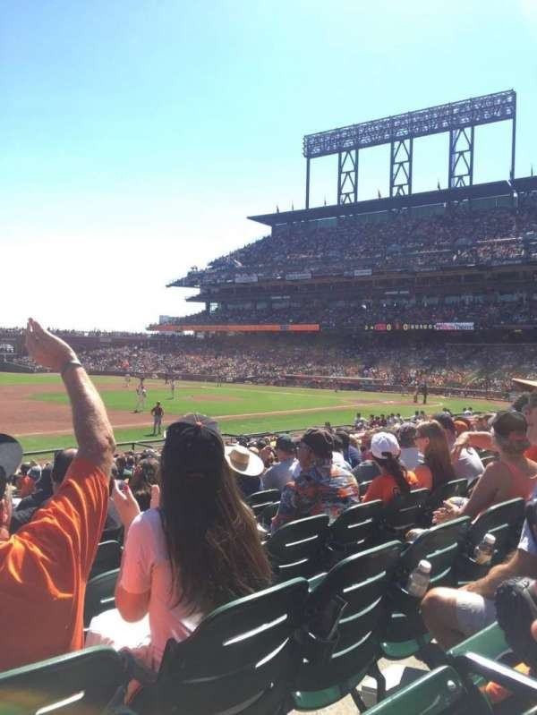 Oracle Park, section: 126, row: 21, seat: 18, 19