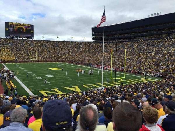 Michigan Stadium, section: 15, row: 47, seat: 18