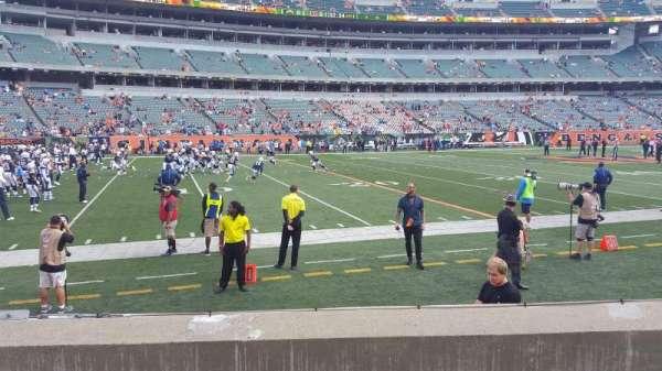 Paul Brown Stadium, section: 114, row: 4, seat: 6