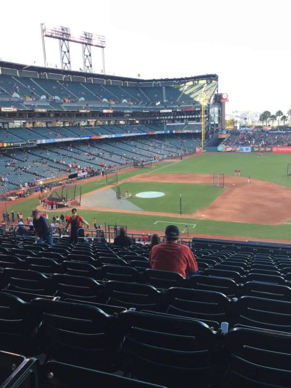 Oracle Park, section: 122, row: K, seat: 8