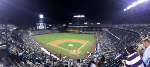Coors Field, section: L332, row: 7, seat: 13