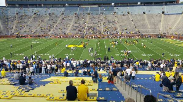 Michigan Stadium, section: 1, row: 44, seat: 8