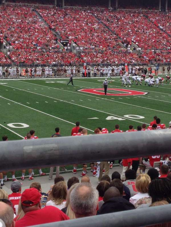 Ohio Stadium, section: 17AA, row: 11, seat: 7