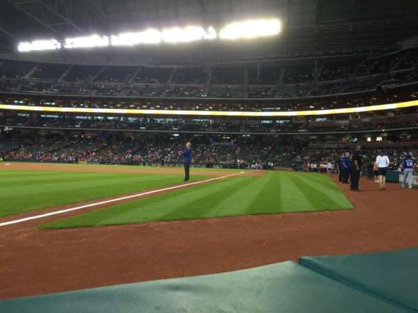 Minute Maid Park, section: 106, row: 1, seat: 5