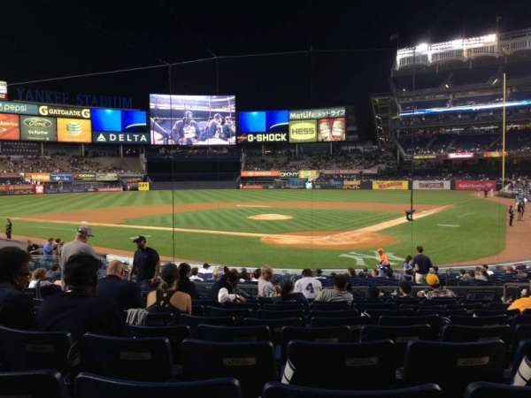 Yankee Stadium, section: 121A, row: 21, seat: 6