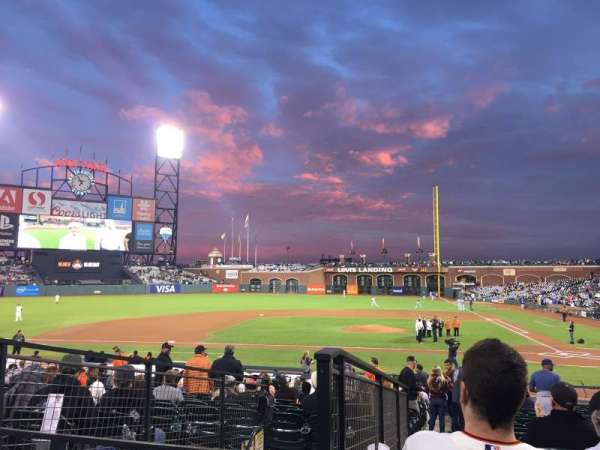 Oracle Park, section: 122, row: 24, seat: 4