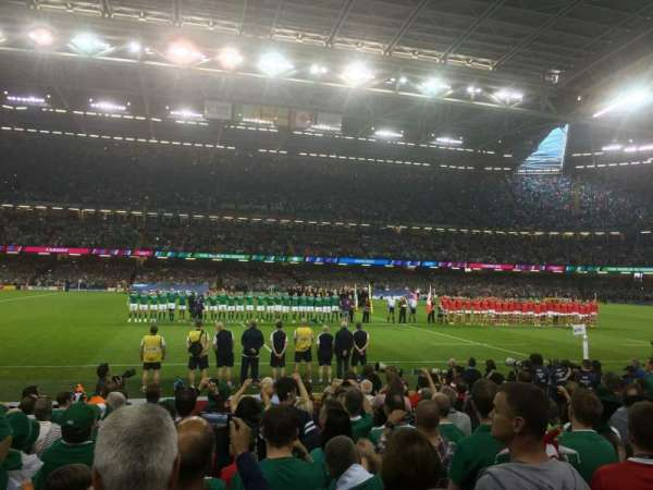 Principality Stadium, section: L10, row: 12, seat: 17